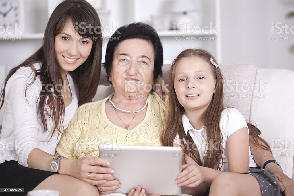 Grandmother, mother and granddaughte. royalty-free stock photo