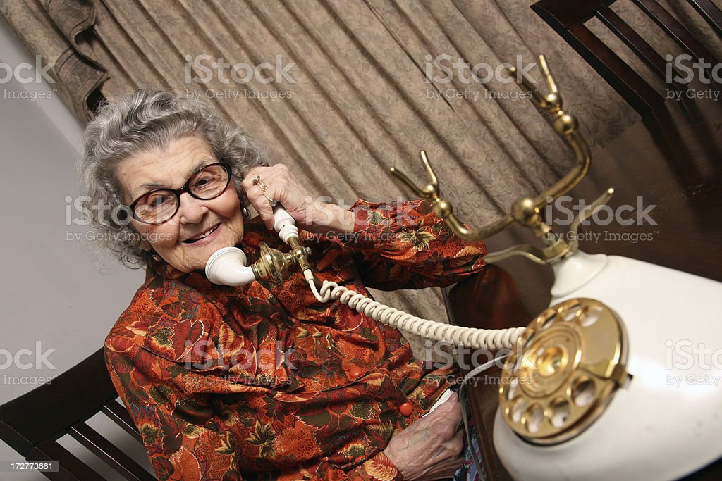 Grandmother on the Telephone royalty-free stock photo