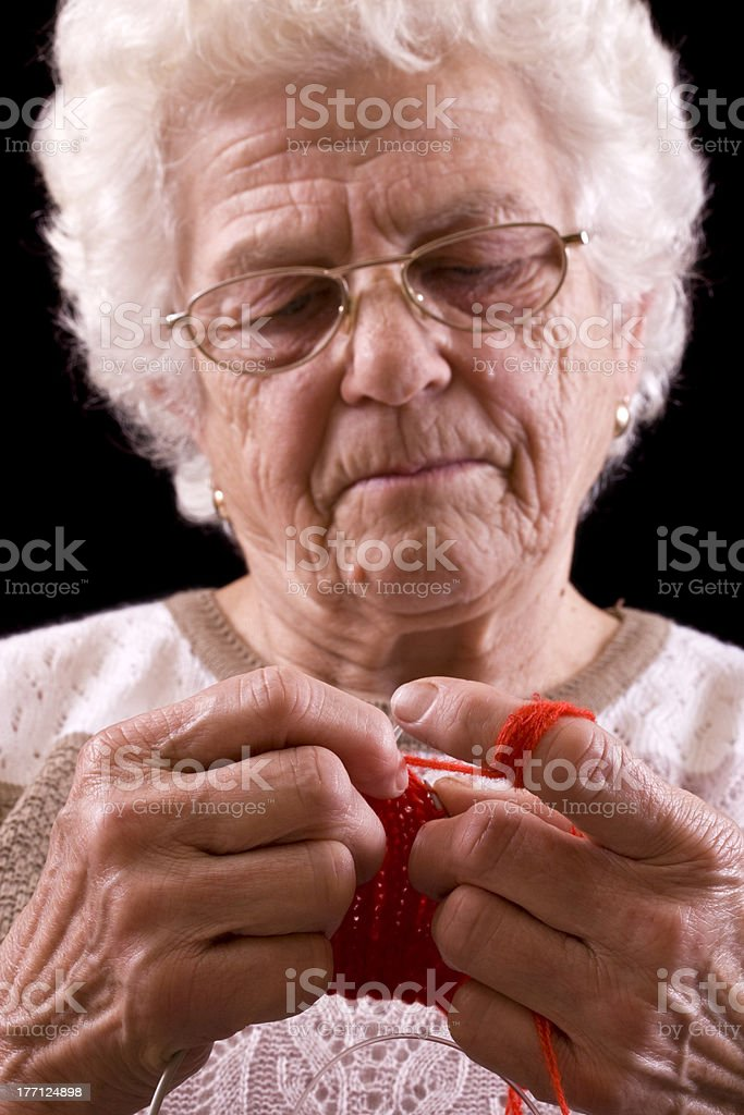 grandmother royalty-free stock photo