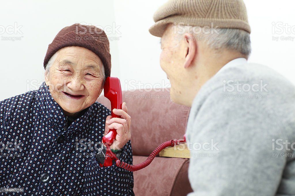 grandmother talking on the phone royalty-free stock photo