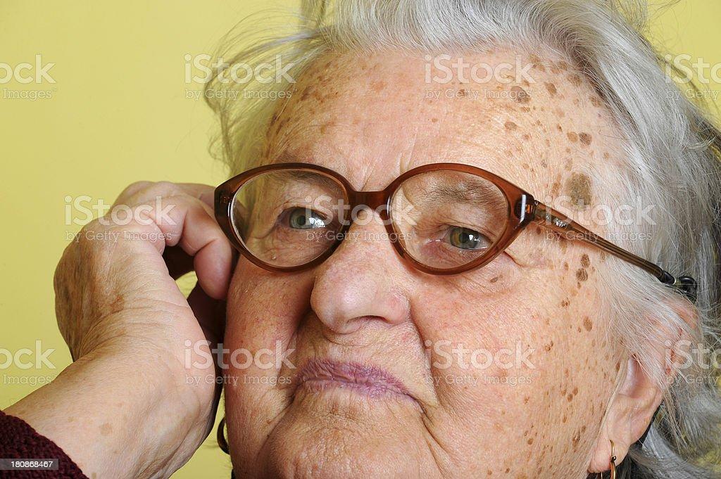 Grandmother with eyewear royalty-free stock photo
