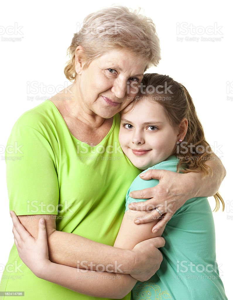 grandmother with grandsister royalty-free stock photo