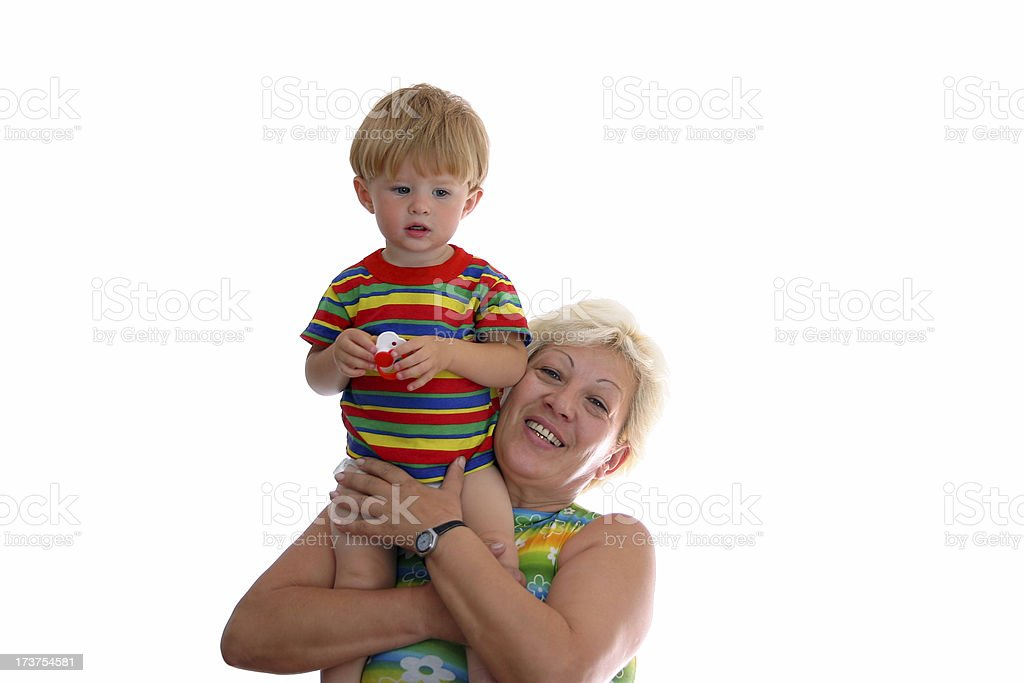 Grandmother with grandson royalty-free stock photo
