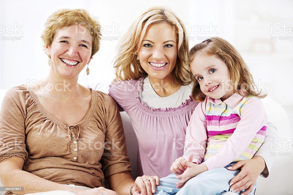 Grandmother with her daughter and grandchild. royalty-free stock photo
