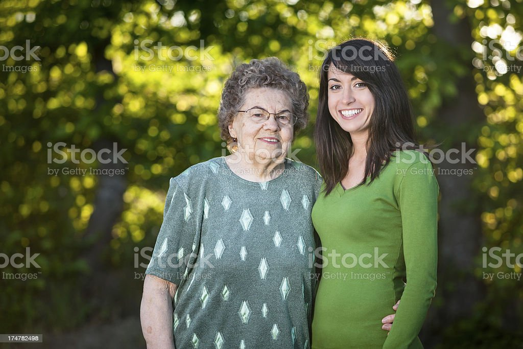 Grandmother with her granddaughter royalty-free stock photo