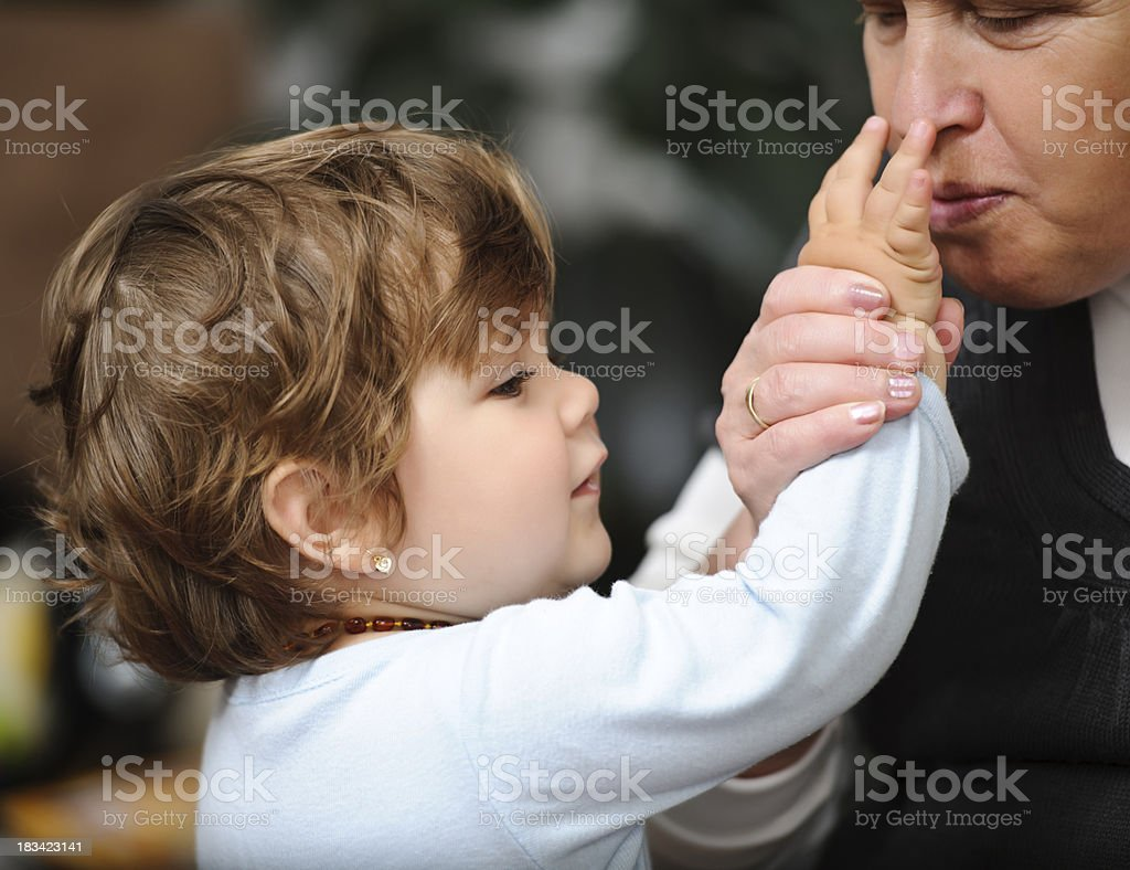grandmother with niece royalty-free stock photo