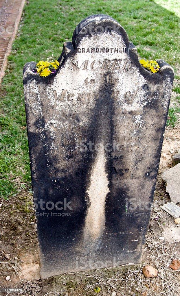 Grandmother's  Gravestone stock photo