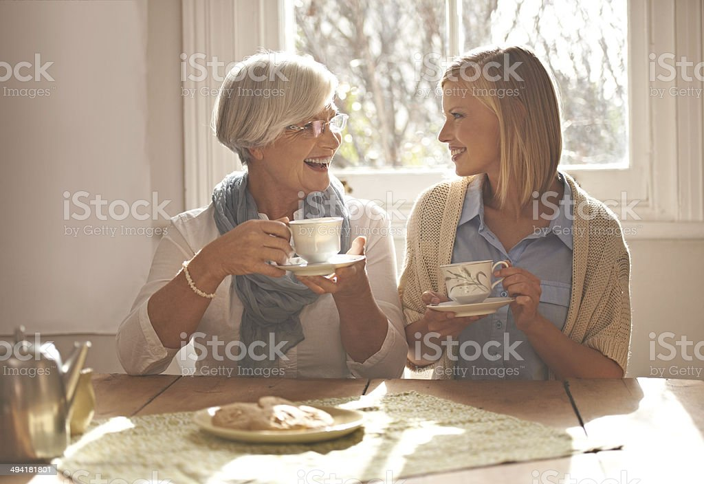 Grandmothers make the best friends stock photo