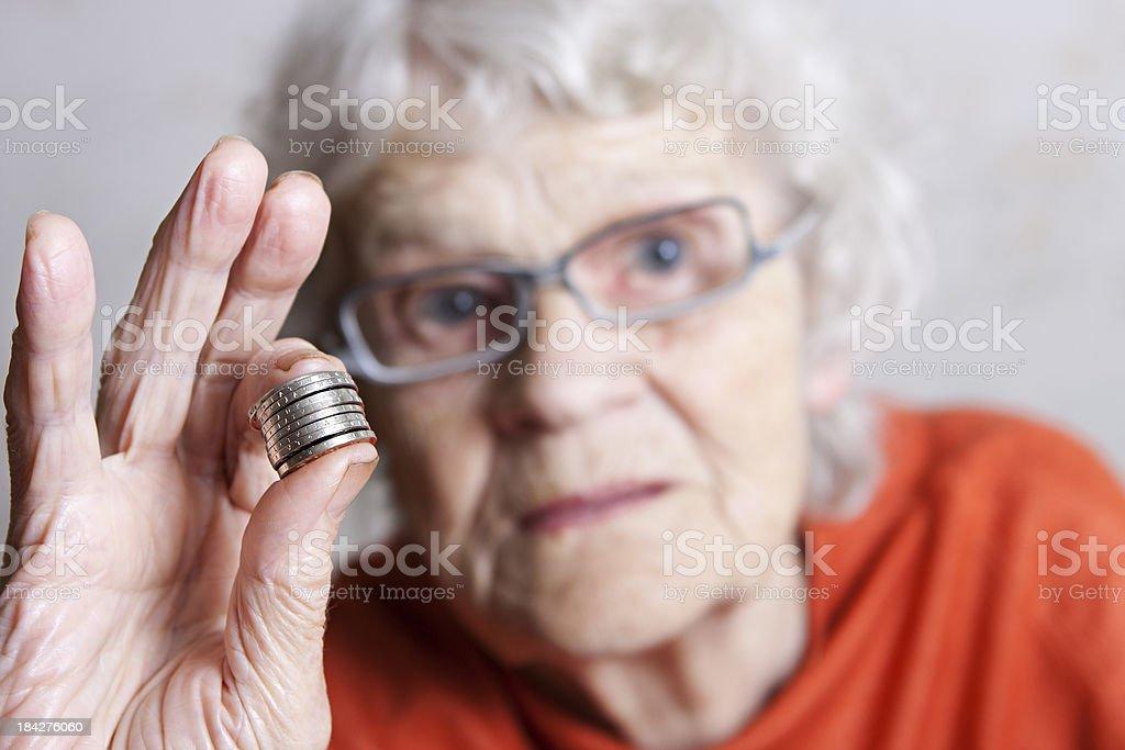 Grandmothers savings royalty-free stock photo