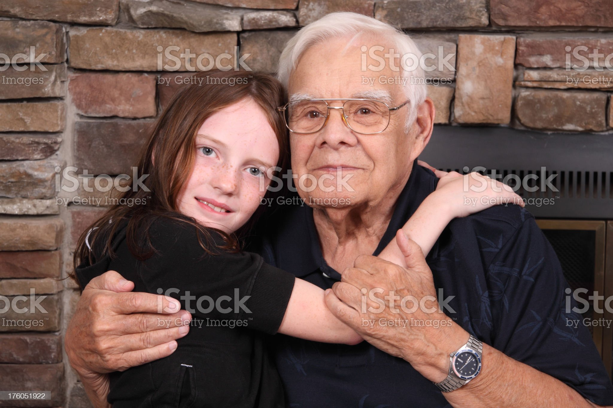 Grandpa and Granddaughter royalty-free stock photo