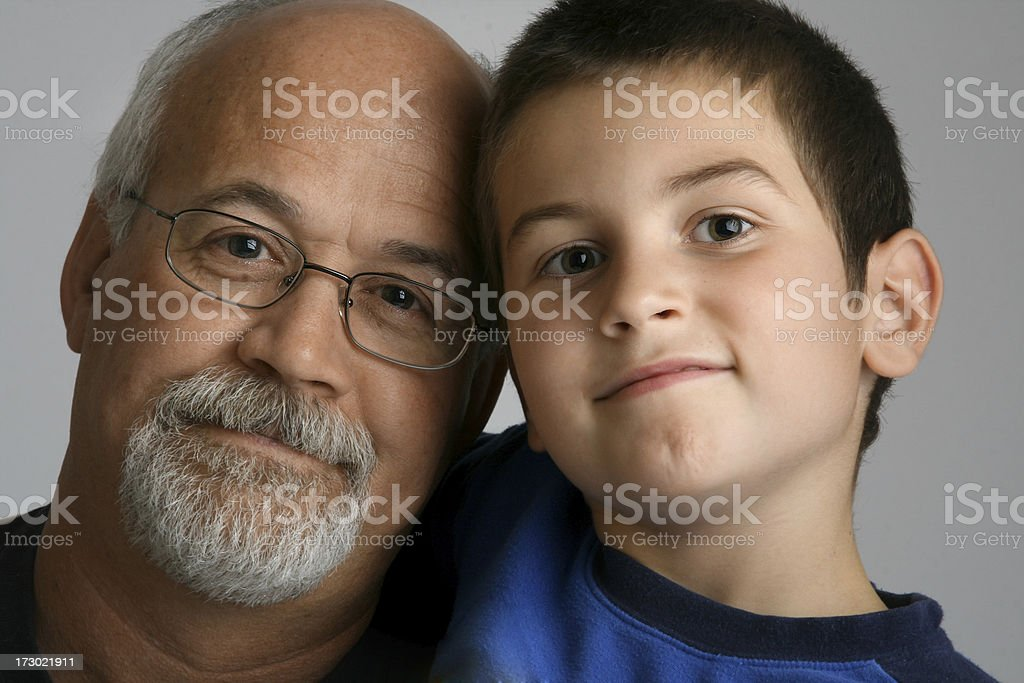Grandpa and Grandson royalty-free stock photo