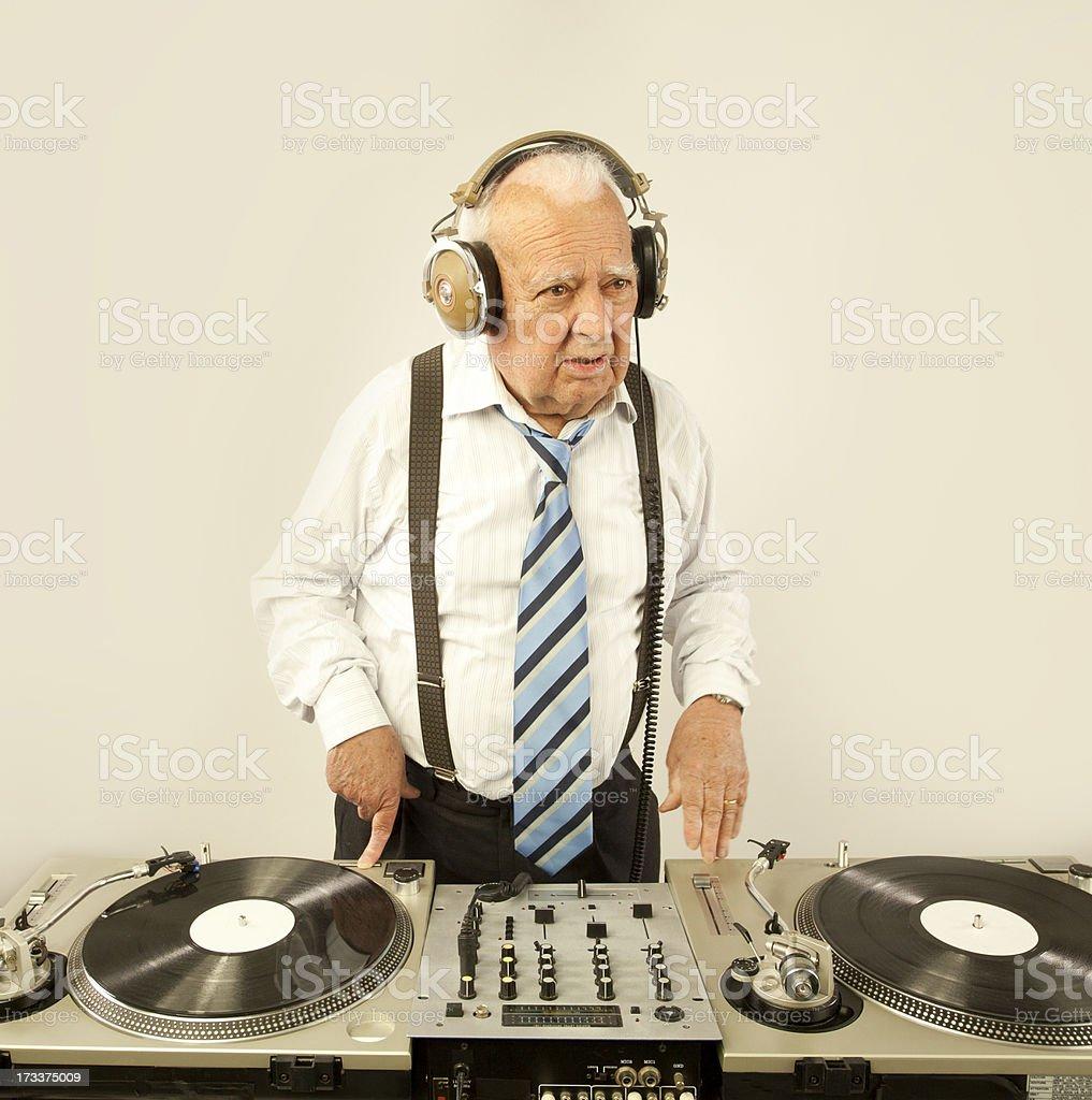 grandpa dj stock photo