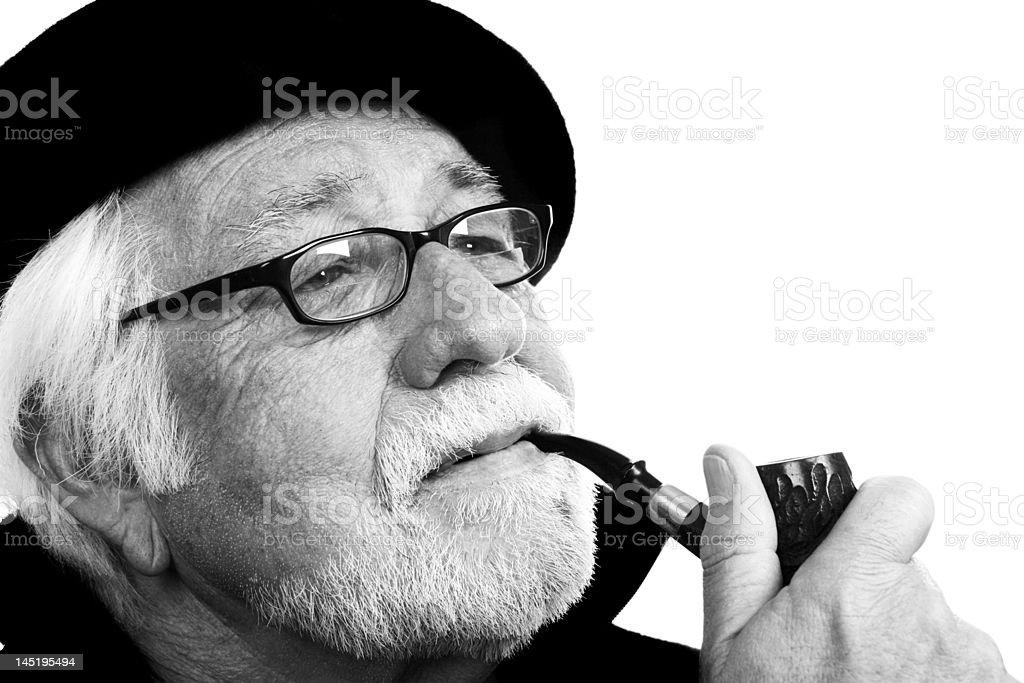 Grandpa loves his pipe! royalty-free stock photo
