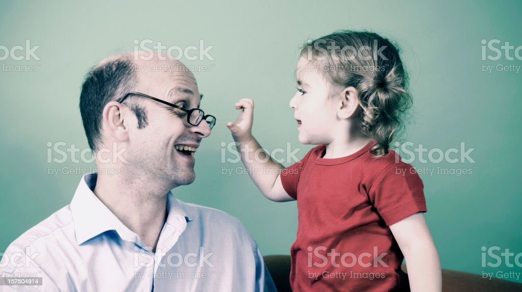 Grandpa with granddaughter royalty-free stock photo