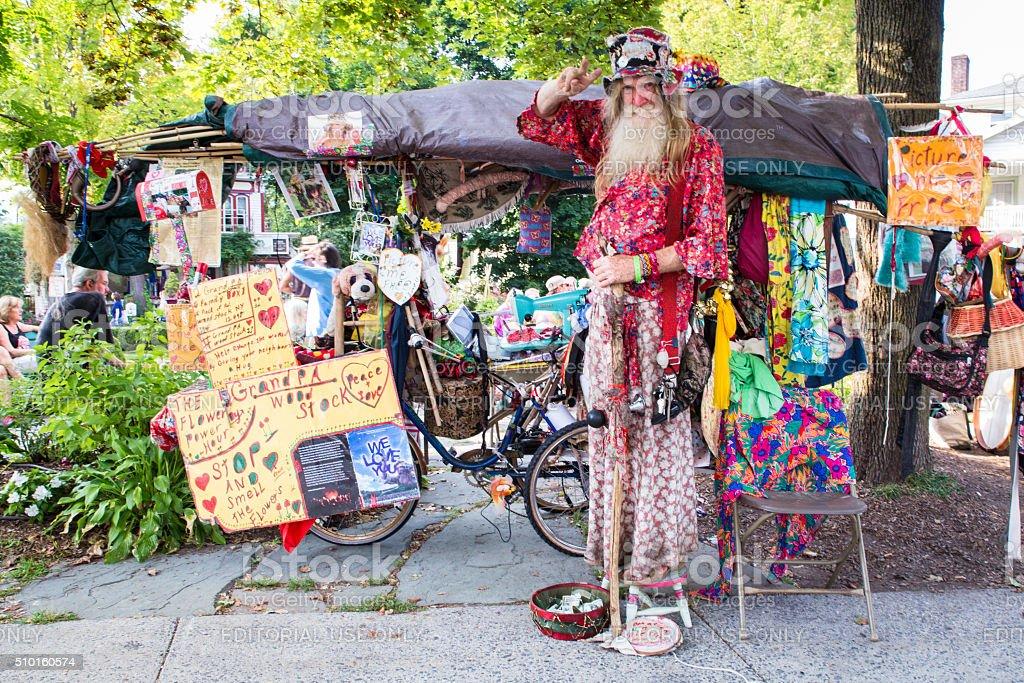 Grandpa Woodstock, Woodstock NY stock photo