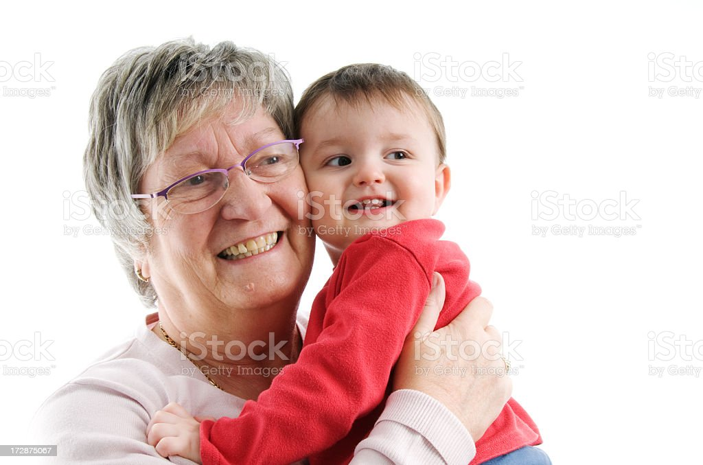 Grandparent and boy royalty-free stock photo