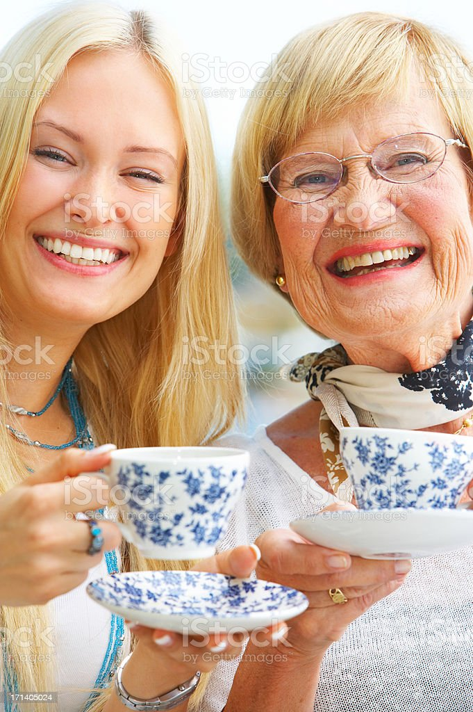 Grandparent and daughter royalty-free stock photo