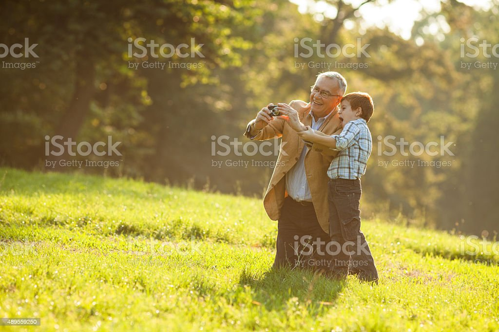 Grandparenting stock photo