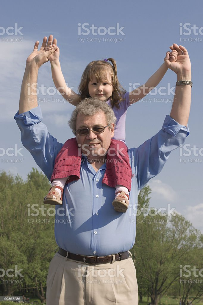 Grandparenting royalty-free stock photo