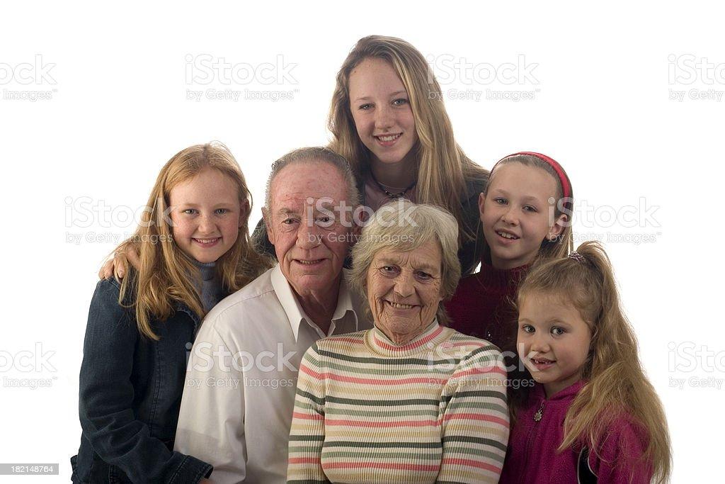 Grandparents & Grandchildren royalty-free stock photo