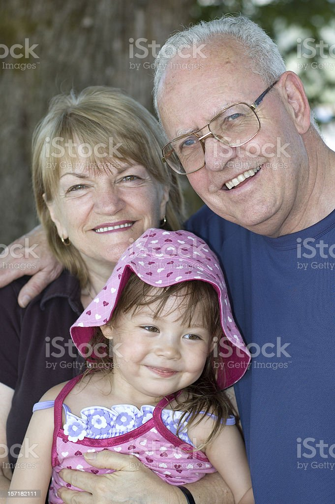 Grandparents and Grandchild royalty-free stock photo
