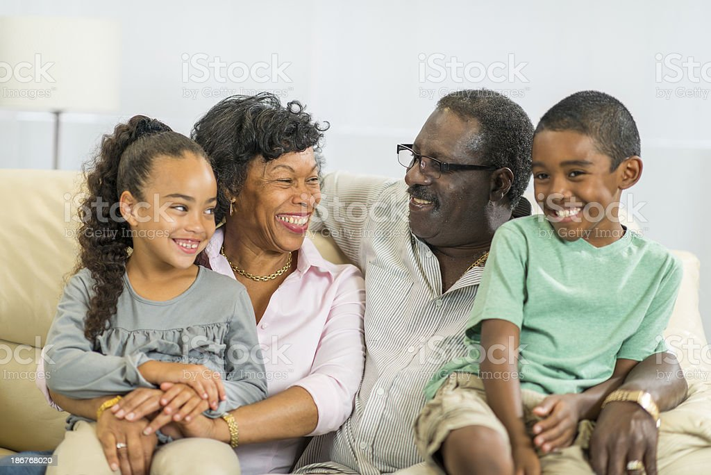 Grandparents and Grandchildren royalty-free stock photo