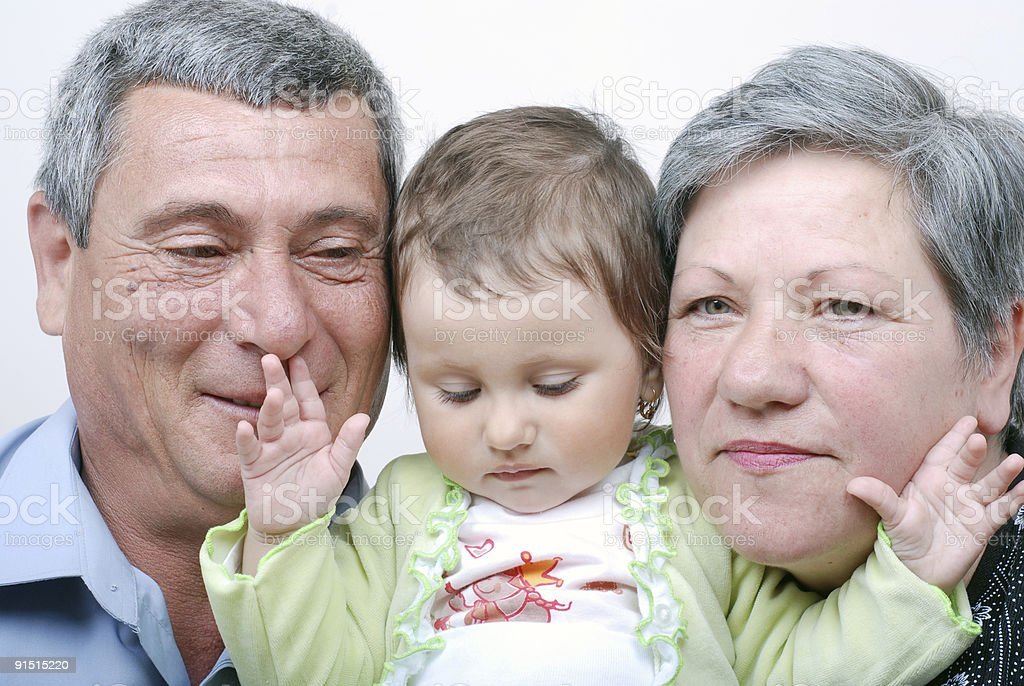 grandparents and grandchildren royalty-free stock photo