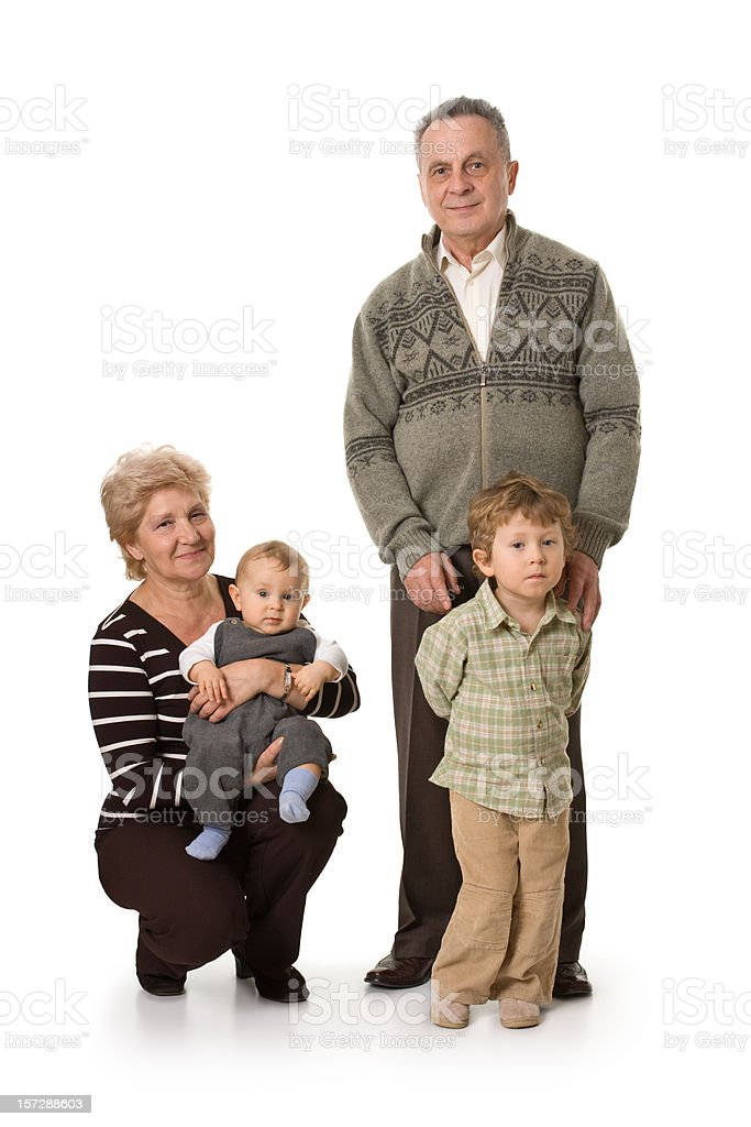 grandparents and their grandchildren royalty-free stock photo