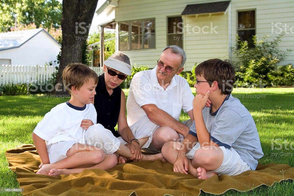 grandparents & grandkids 02 royalty-free stock photo