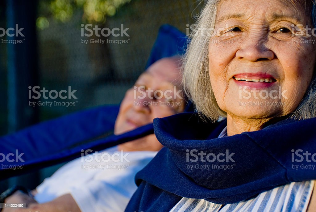 Grandparents smiling for the camera - People Series stock photo