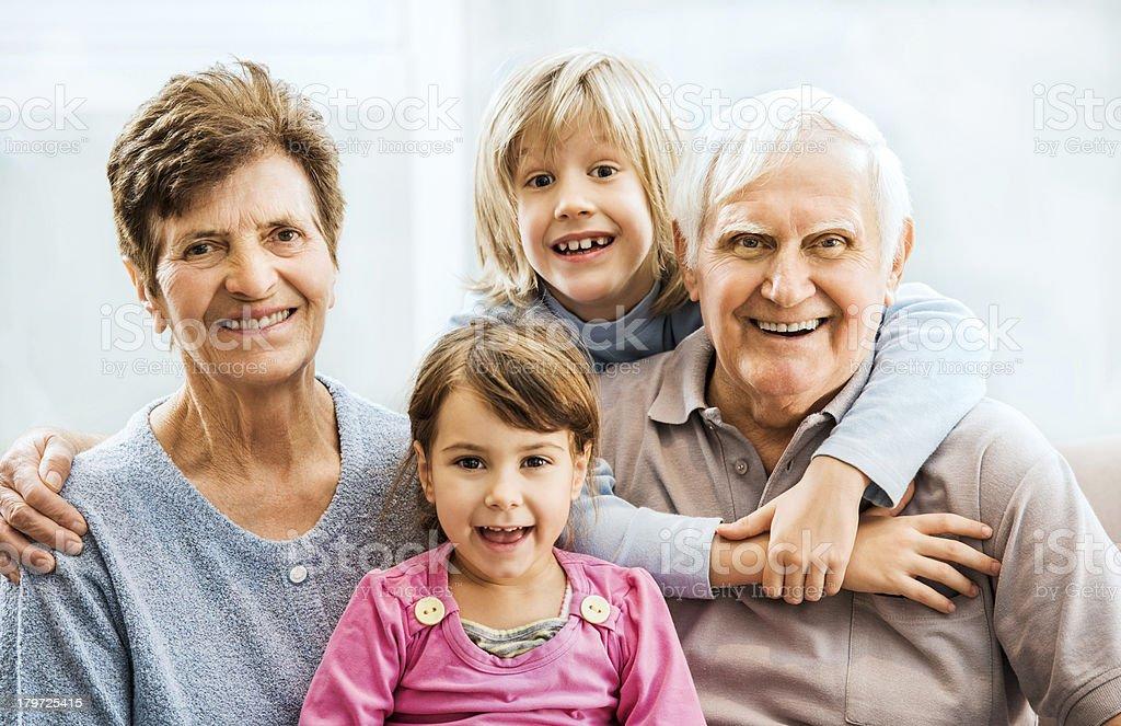 Grandparents with grandchildren. royalty-free stock photo