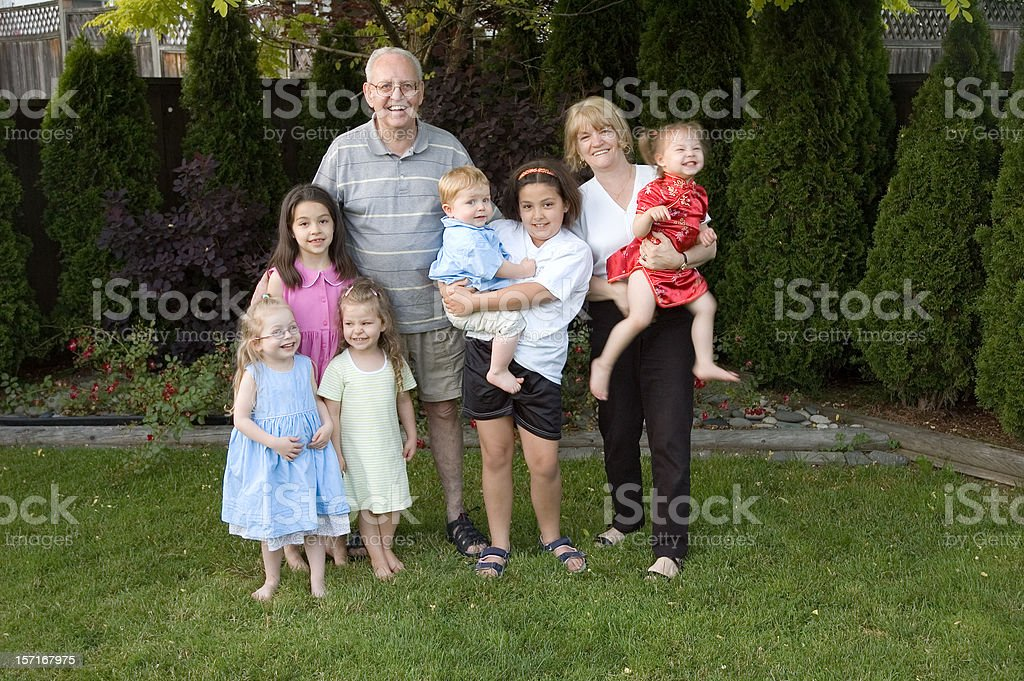 Grandparents With Grandkids royalty-free stock photo