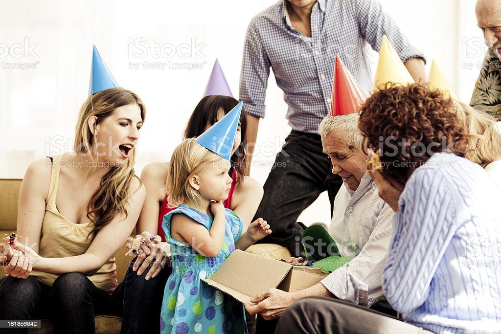Grandpa's Birthday Party royalty-free stock photo