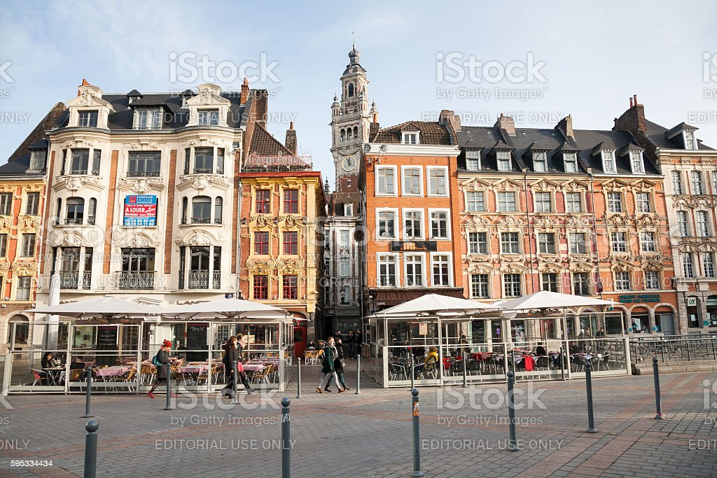 Grand-Place, Lille, France stock photo