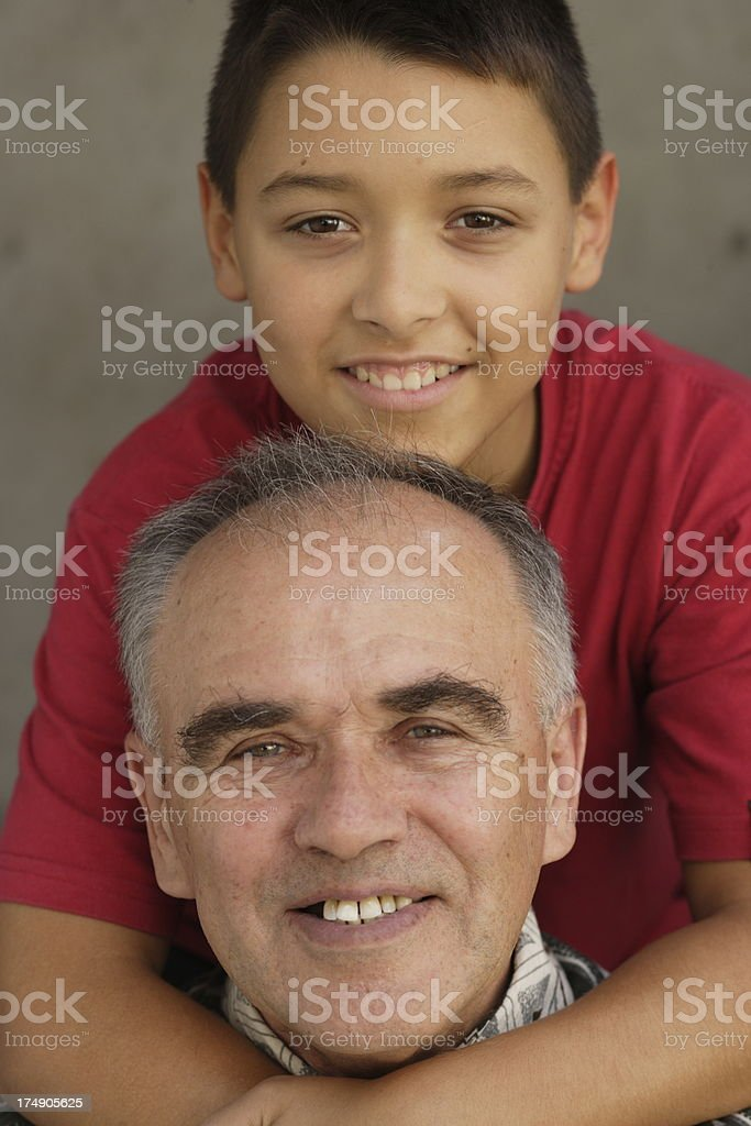 Grandson and Grandpa royalty-free stock photo