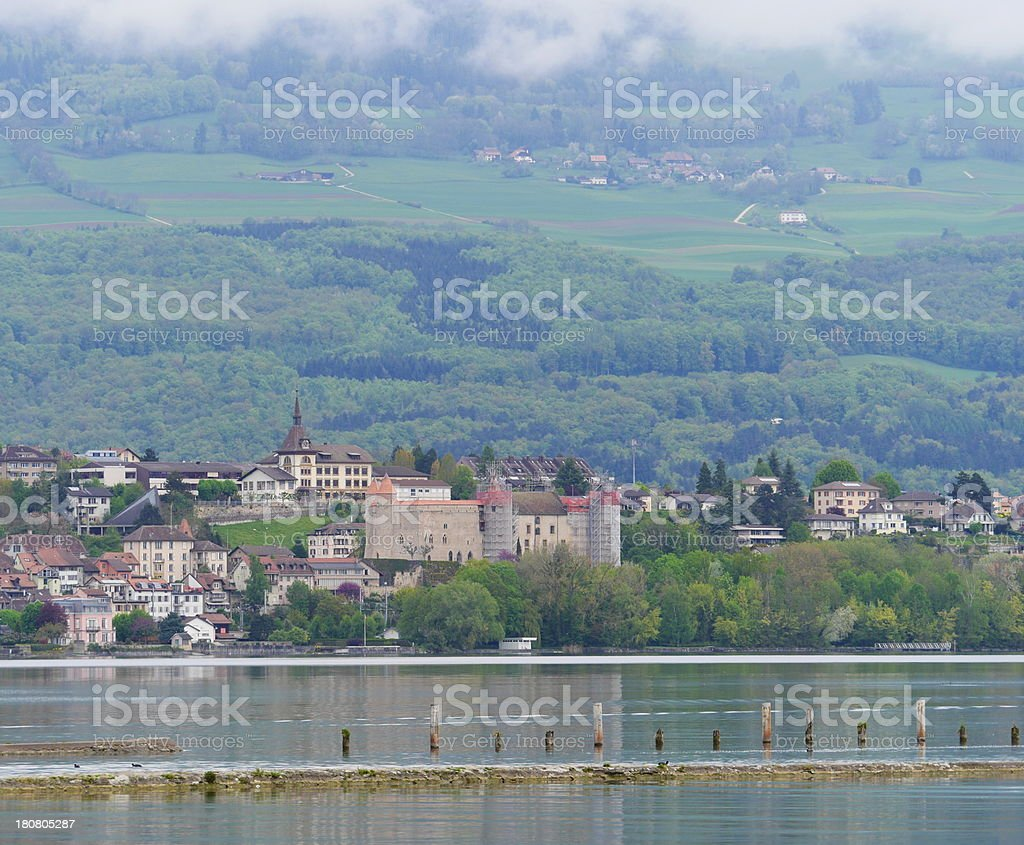Grandson, Neuchatel Lake, Switzerland stock photo