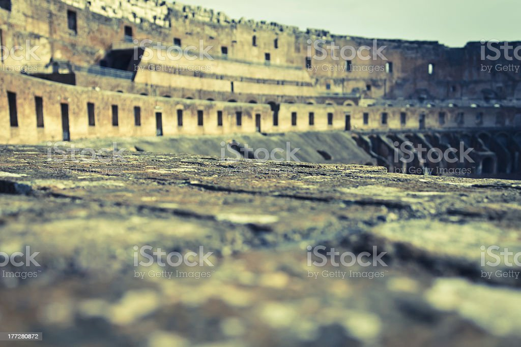 Grandstand in Ruins stock photo