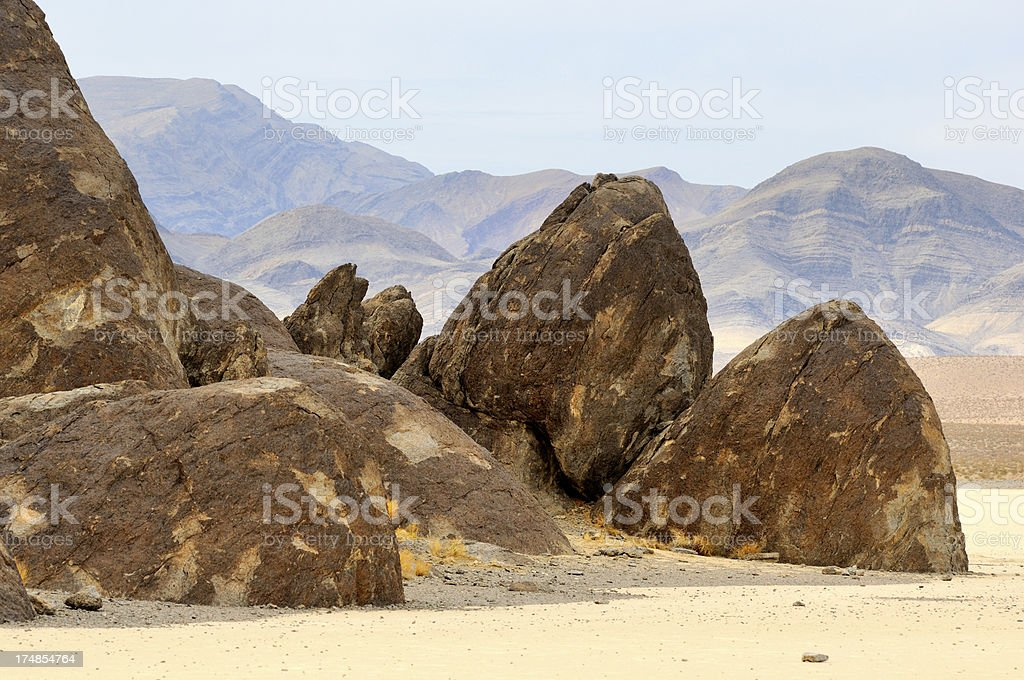 Grandstand rock at Racetrack Playa, Death Valley, USA royalty-free stock photo