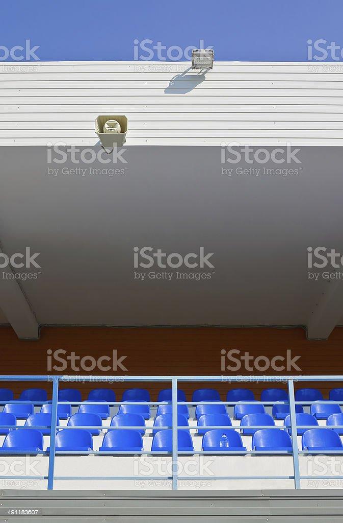 Grandstand stadium stock photo