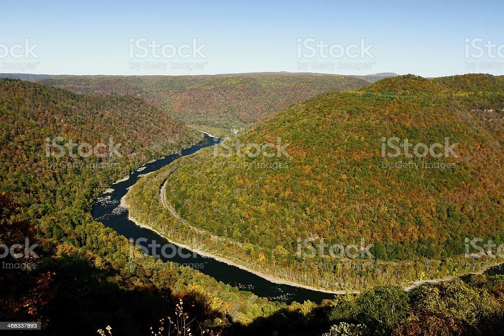 Grandview Fall New River Gorge stock photo