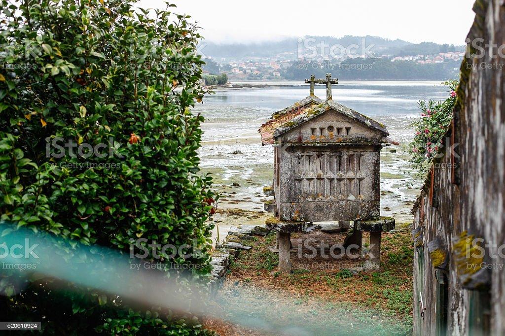 Granery (hórreo) from Galicia stock photo