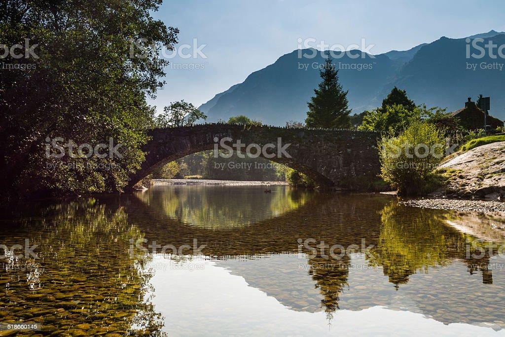 Grange Bridge reflected stock photo