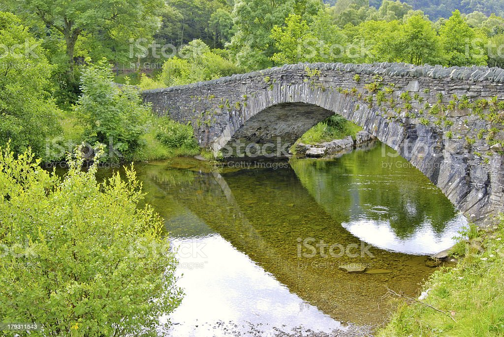 Grange in Borrowdale royalty-free stock photo