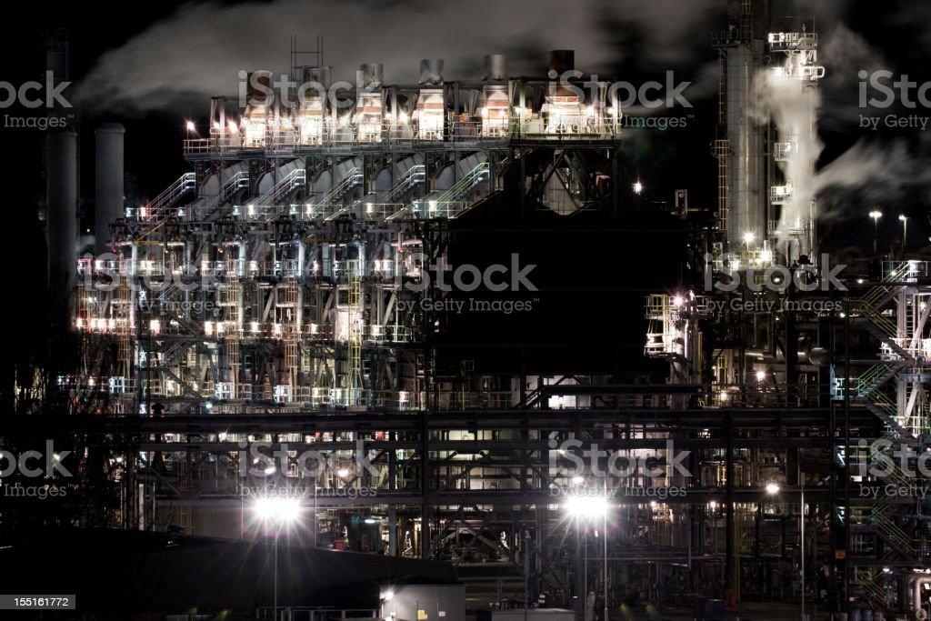Grangemouth Oil Refinery at Night. royalty-free stock photo