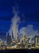 Grangemouth petrochemical plant, Scotland.