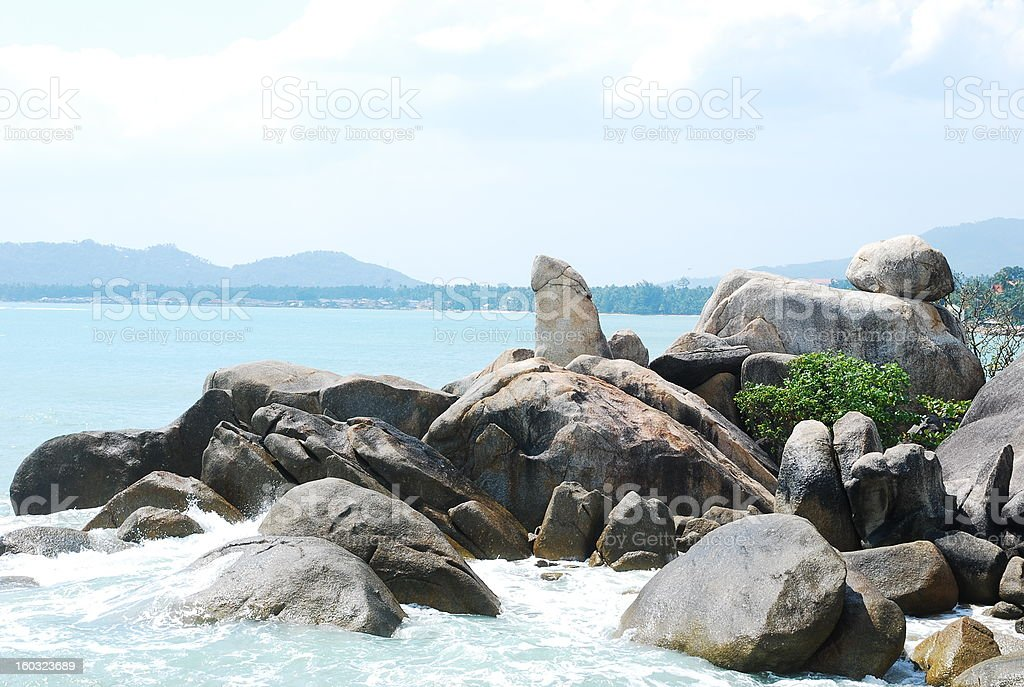 grangfather and grandmother rocks samui island thailand royalty-free stock photo