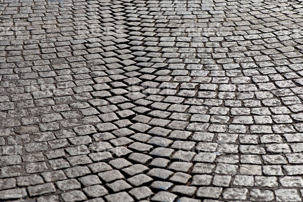 Granit cobblestone pavement stock photo
