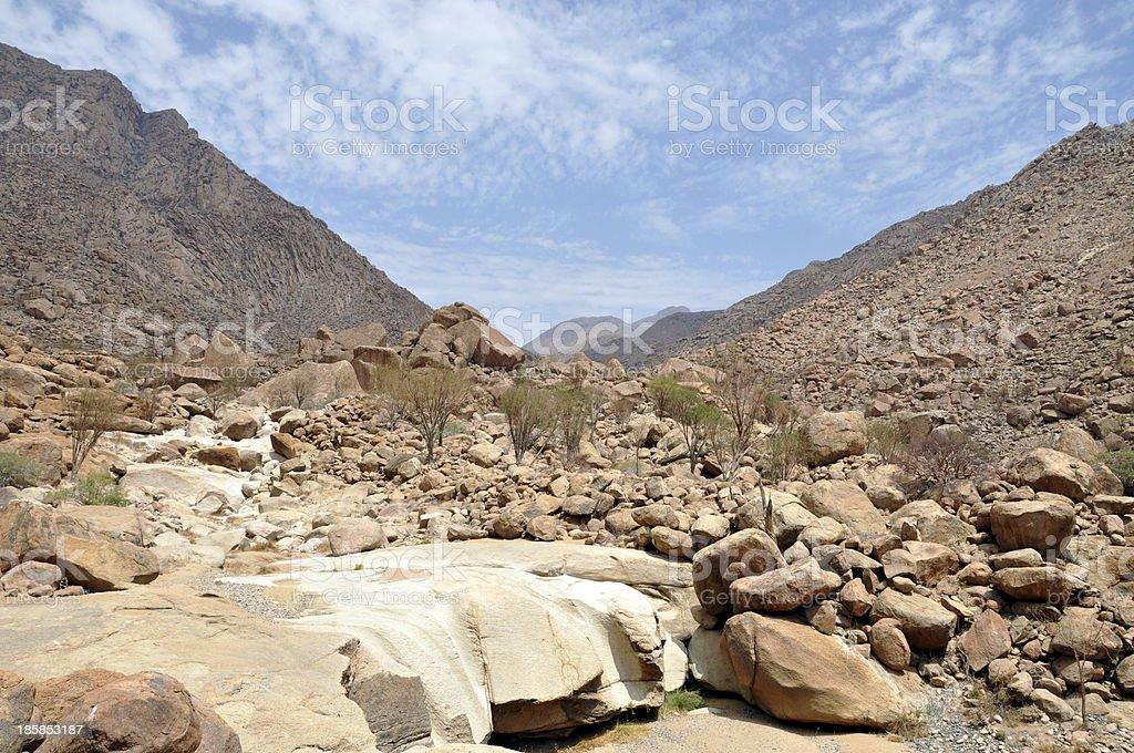 Granite boulders stock photo