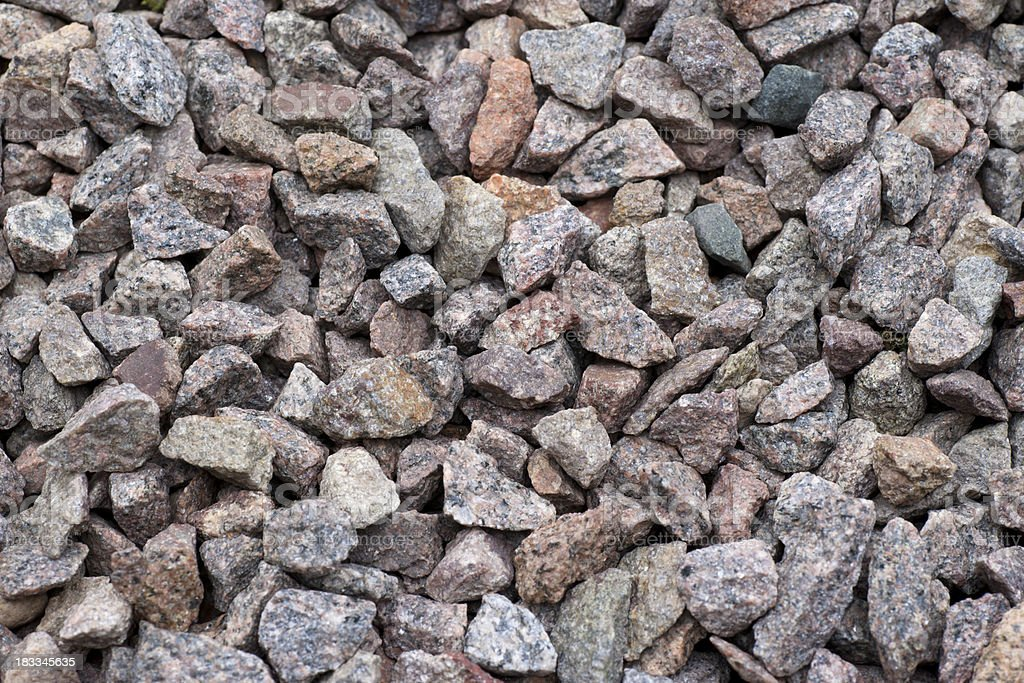 Granite chippings close up royalty-free stock photo