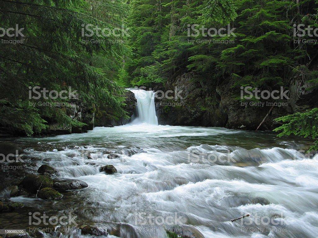 Granite Creek Falls royalty-free stock photo